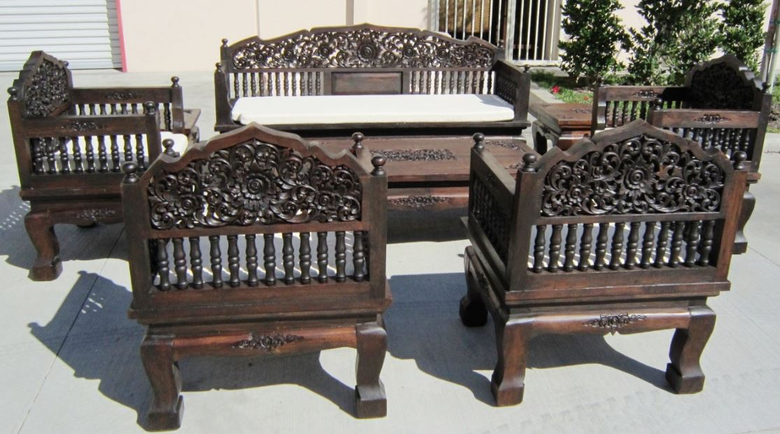 Hand Craved Table and Chairs