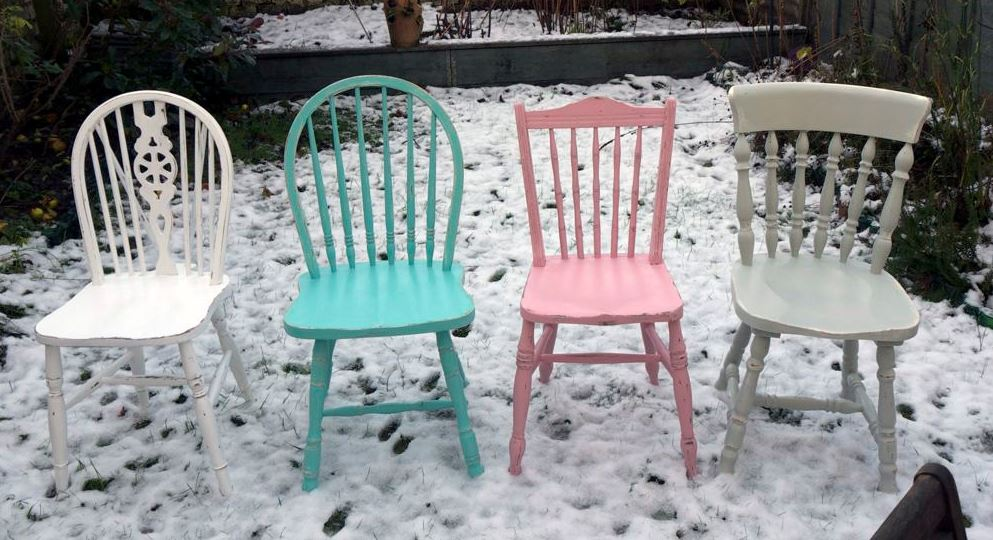 Vintage Shabby Chic Upcycled Chairs