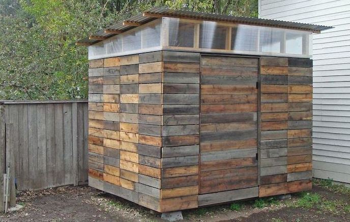Cladded Shed Design With Plastic Windows